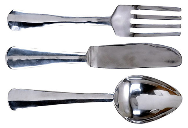 oversized decorative cutlery
