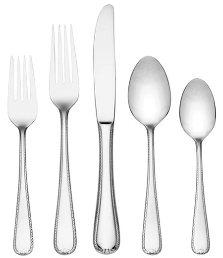 gorham ribbon edge flatware