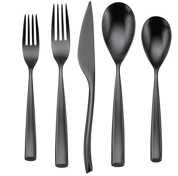 Oneida Vivanti Romano 5-Piece Place Setting Black