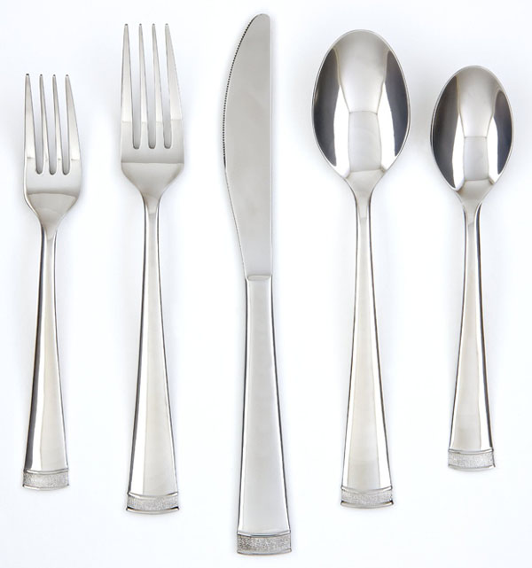 Farberware Poppy Mirror Pebble 20-Piece Flatware Set,