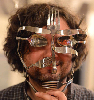 Spoonman Ed King of cutlery