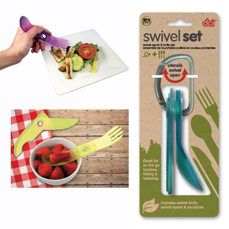 spork knife swivel set