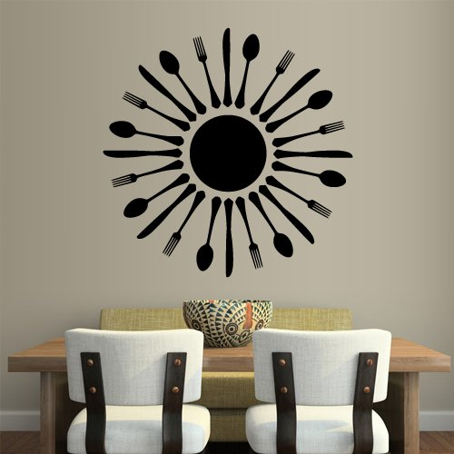 Wall Decal Mural of Cutlery for your Kitchen