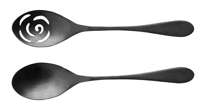 Knork 2 Piece Titanium Serving Set Black Matte