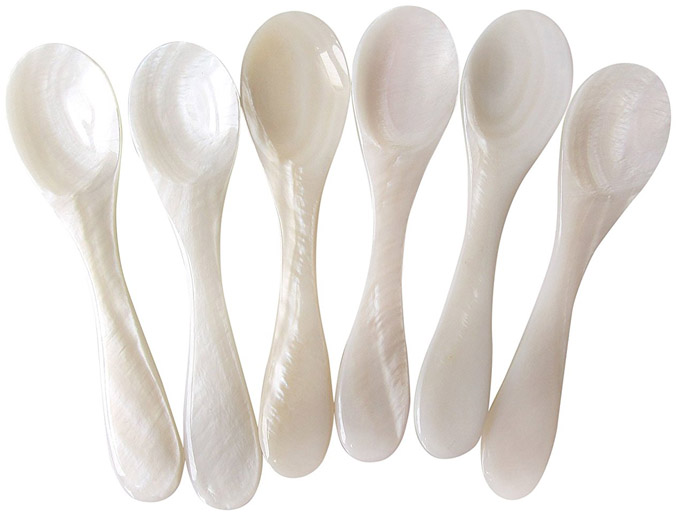 mother of pearl spoon