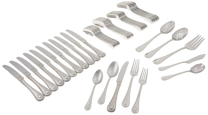Lenox 65-Piece French Perle Flatware