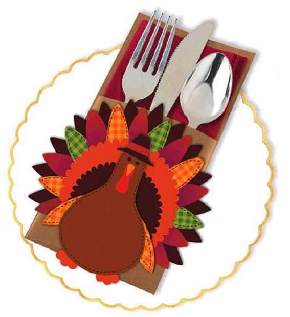 Amscan Thanksgiving Turkey Cutlery Holder