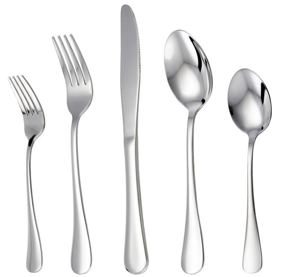LIANYU 20 Piece Stainless Steel Flatware Silverware Set