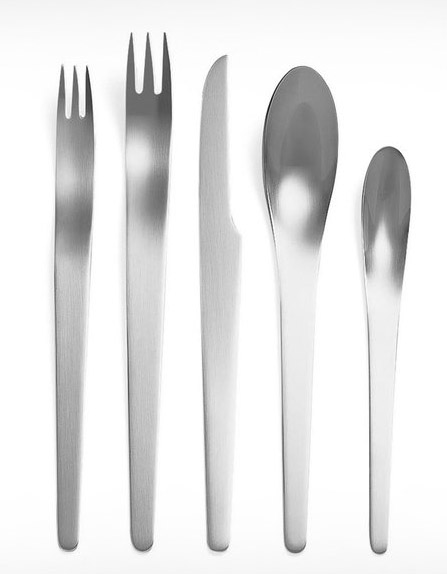 Georg Jensen Arne Jacobsen 5-piece Steel Cutlery