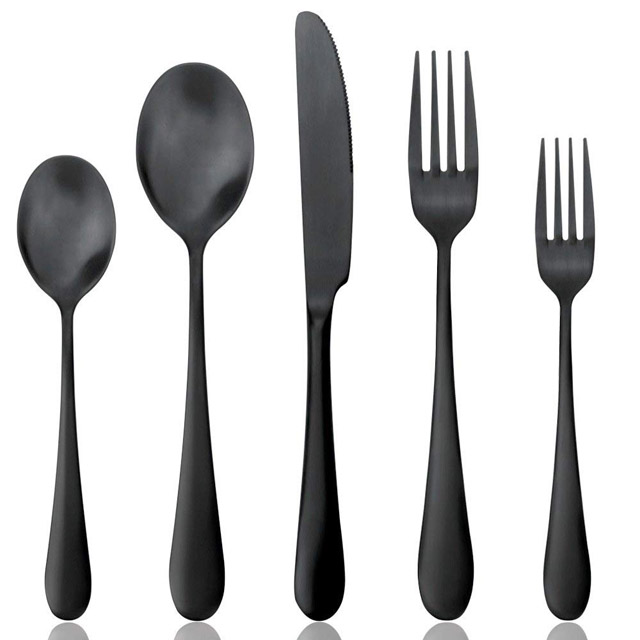 Black Flatware Set AOOSY