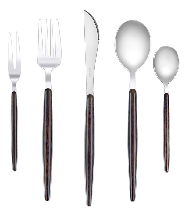 Wood Handle 20 Piece Flatware Set
