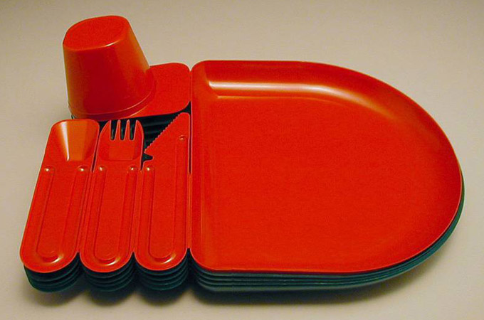 plastic picnic tray invented by French designer Jean-Pierre Vitrac