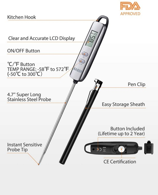 Meat Thermometer for checking for a Fever