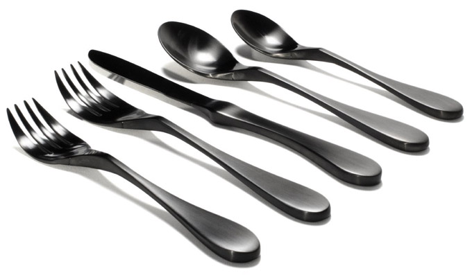 Knork Black Matte Titanium Coated Stainless 20-Piece Set