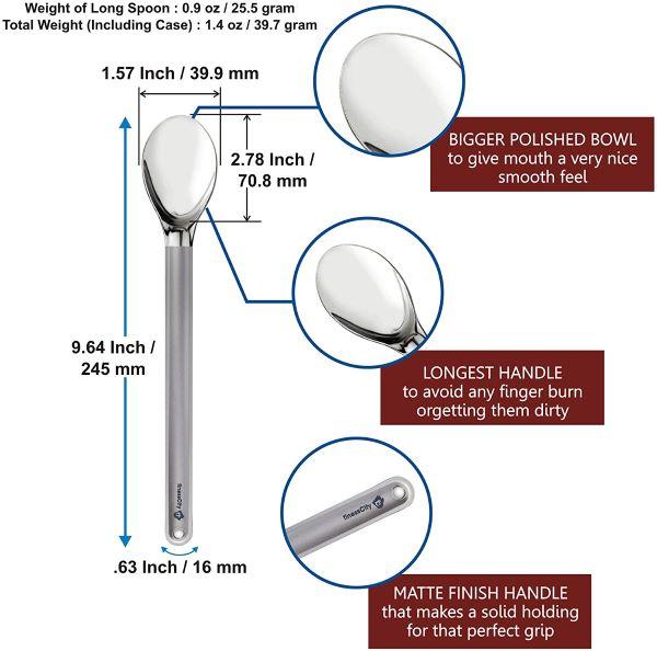 finessCity Longest Titanium Long Handled Spoon